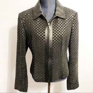 Marvin Richards woven leather jacket size L